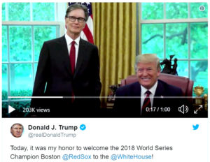 Red Sox, Boston Globe owner John W. Henry and unknown investors consider Encore Casino Takeover following visit with President Trump