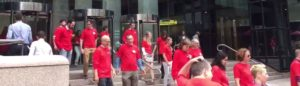 NEWS STRONG news – Boston Media Strong Red Shirts Walkout Clears Benches as Journalist Union Strikes One Message of Solidarity