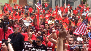 Effective CWA Fair Contract Strike Show of Solidarity