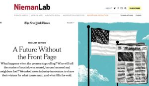Journalism Traders – Derelict NY Times to include Newspaper Closings