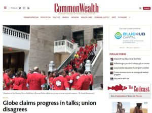 "Mogul Law Boston – Globe  Union Fails to Earn ""Boston Media Strong"" Red Shirts Fair Wages as Parent Co Skews Wages to Red Sox"