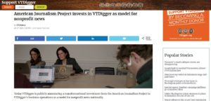 American Journalism Project invests in VTDigger as model for nonprofit news nationally