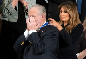 Rush Limbaugh receives Presidential Medal of Freedom during State of the Union