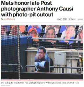 Coronavirus Pandemic – Cutout Culture honors Late NY Post Sports Photographer